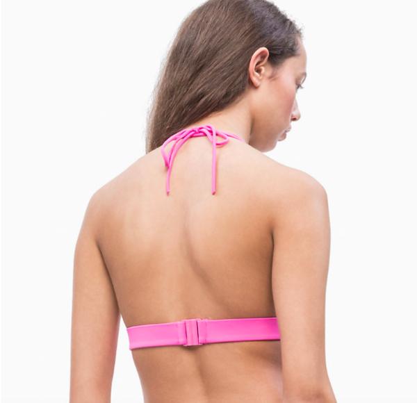 Calvin Klein Plavky CK Logo Triangle Phlox Pink Vrchní Díl - 2
