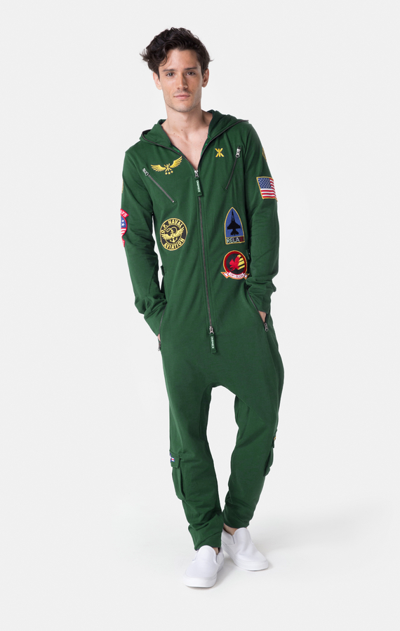 OnePiece Aviator Onesie Jungle Green, XL - 2