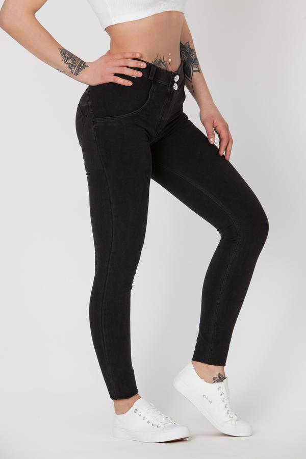 Boost Jeans Mid Waist Black, XS - 2