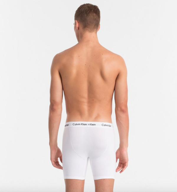 Calvin Klein 3Pack Boxerky Dlouhé Bílé, L - 2
