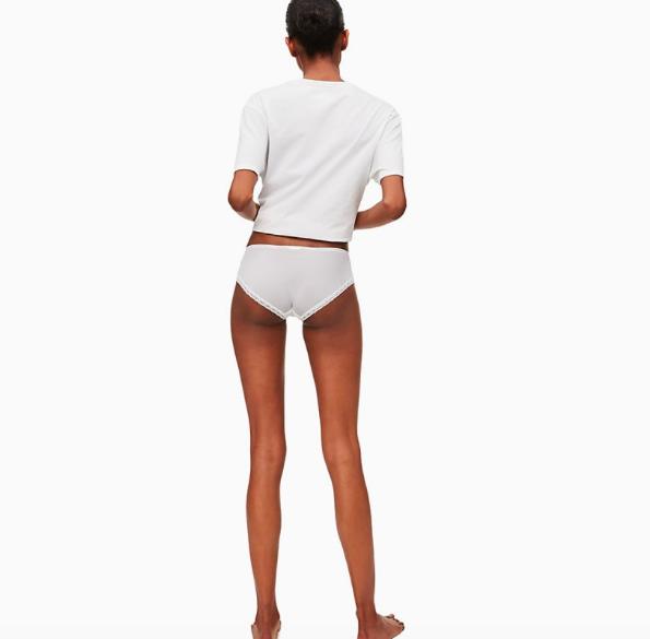 Calvin Klein Hipster Kalhotky Bílé - 2