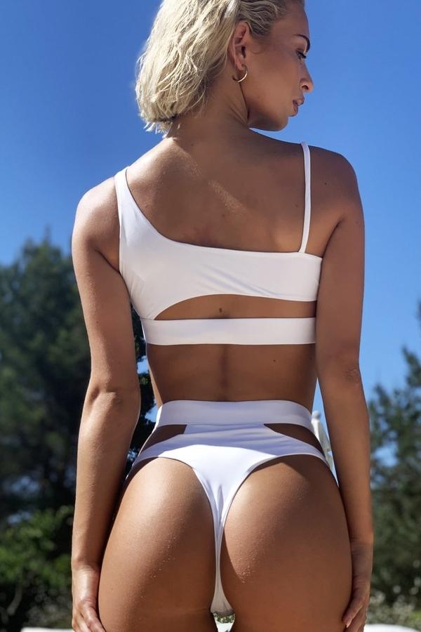Hugz Plavky Malibu Cut Out Bikini White, S - 2