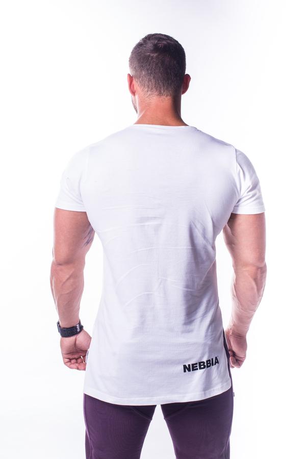 Nebbia Tričko 730 Atheltic Logo Bílé - 2