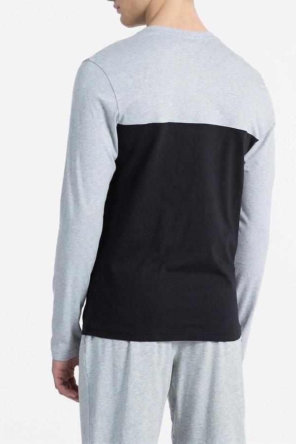Calvin Klein Pánské Tričko Šedo-Černé - 2