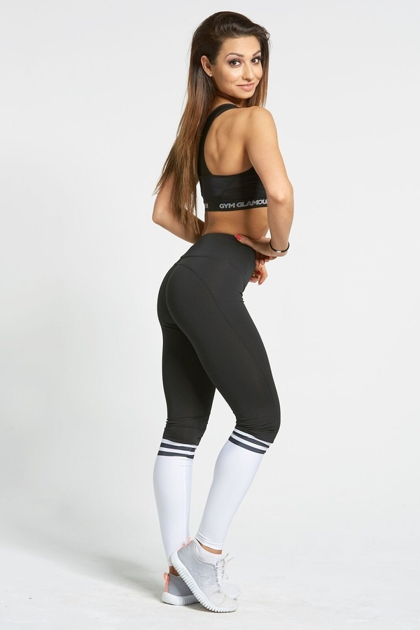 Legíny Gym Glamour Black & White Socks - 3