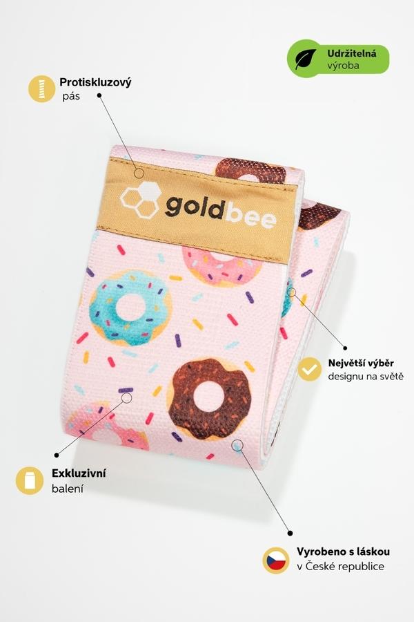 GoldBee Posilovací guma BeBooty Pink Donuts - 3