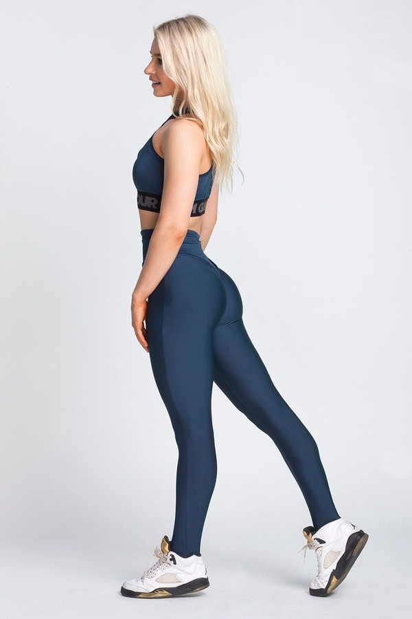 Gym Glamour Legíny High Waist Midnight Navy, L - 3