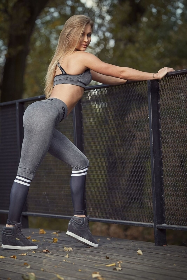 Gym Glamour Legíny Grey & Black Socks - 3