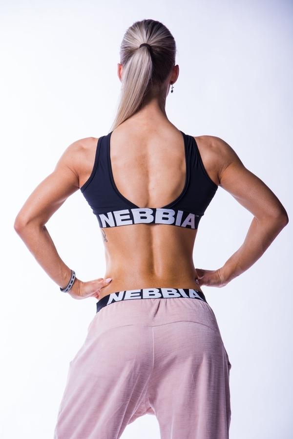 Nebbia 622 Crossed Sports Bra Černá, M - 3