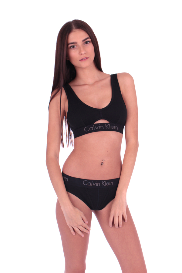 Calvin Klein Podprsenka Bralette Body Černá S Průřezem, S - 3