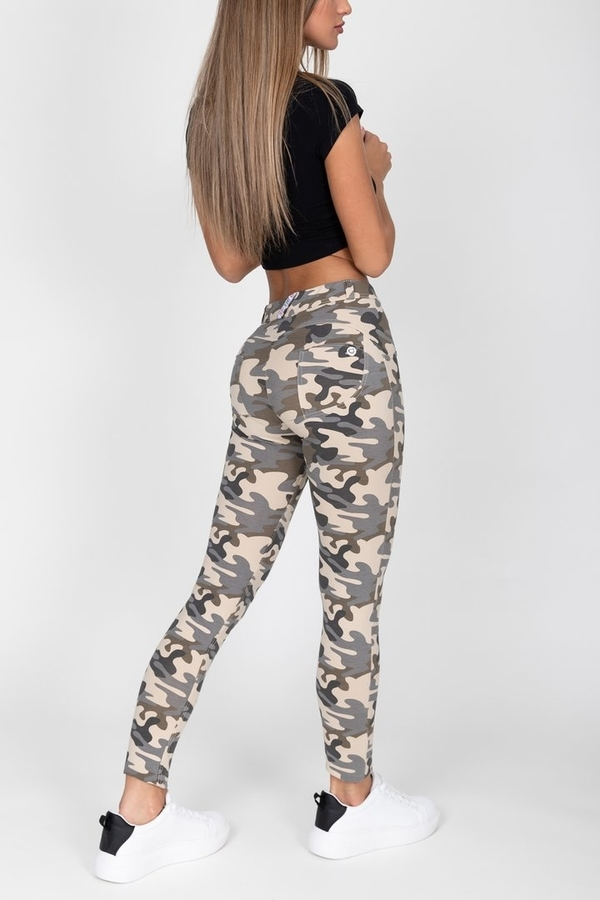 Hugz Camo Light Mid Waist Jegging, M - 3