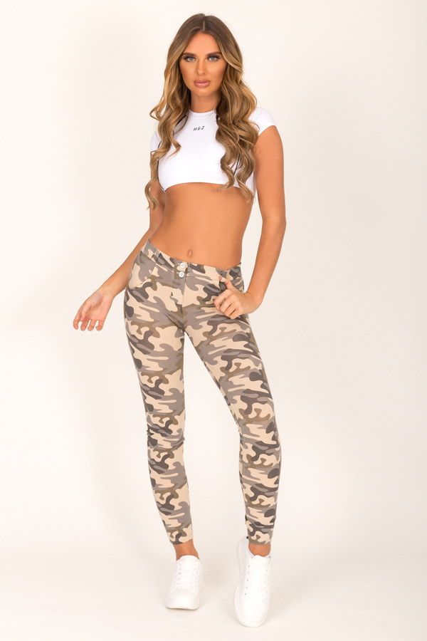 Hugz Camo Light Low Waist Jegging, L - 3