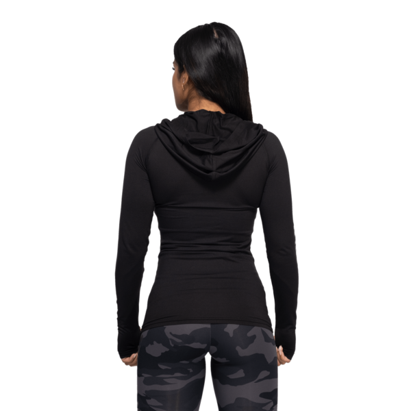 Better Bodies Tričko Performance Long Sleeve Hood Black and Grey, S - 3