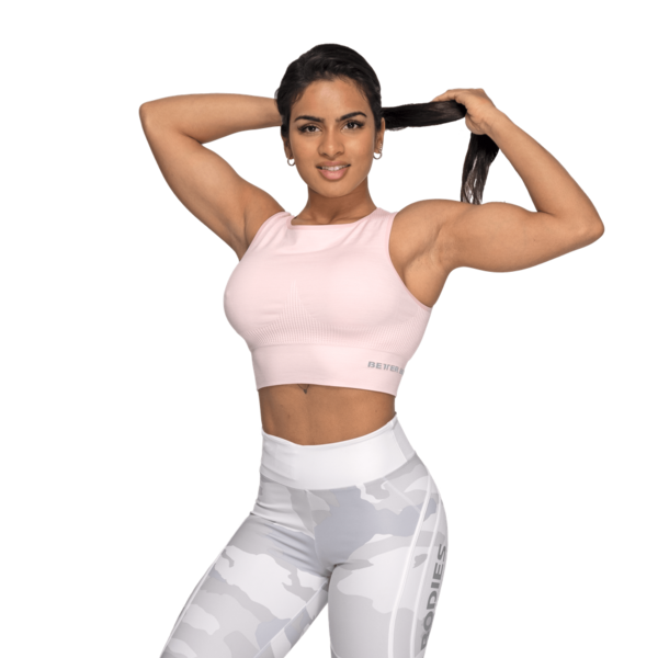 Better Bodies Top Rib Seamless Pale Pink Melange, S - 3