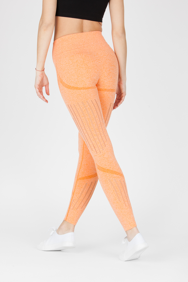 Naine 4.0. Bezešvé Legíny Stripes - Orange, S - 3