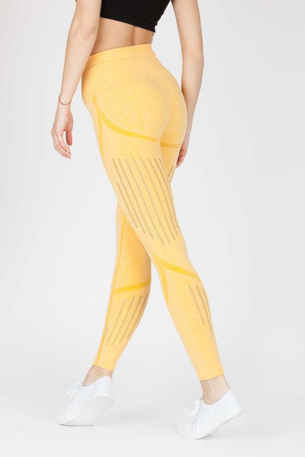 Naine 4.0. Bezešvé Legíny Stripes - Yellow, M - 3