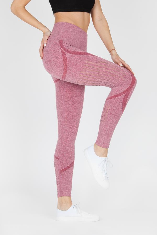 Naine 4.0. Bezešvé Legíny Stripes - Pink, M - 3