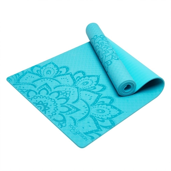 Yoga Design Lab 6.0mm Flow Mat - Pure Mandala Aqua - 3