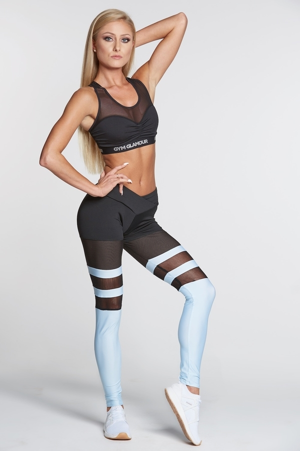 Gym Glamour Legíny Mesh And Blue Socks, S - 3
