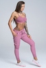 Gym Glamour Tepláky Boyfriend Dirty Pink, XS - 3/3
