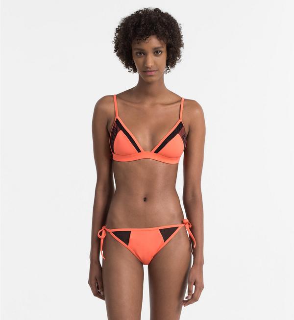 Calvin Klein Plavky Bikini Hot Coral Spodní Díl - 3