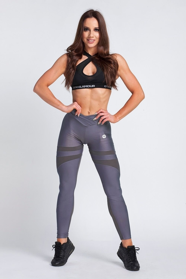 Gym Glamour Legíny Granite Grey Mesh, XS - 3