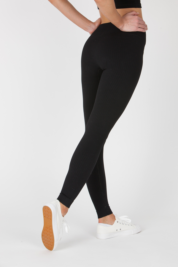 GoldBee Legíny BeSeamless Ribs Black - 3