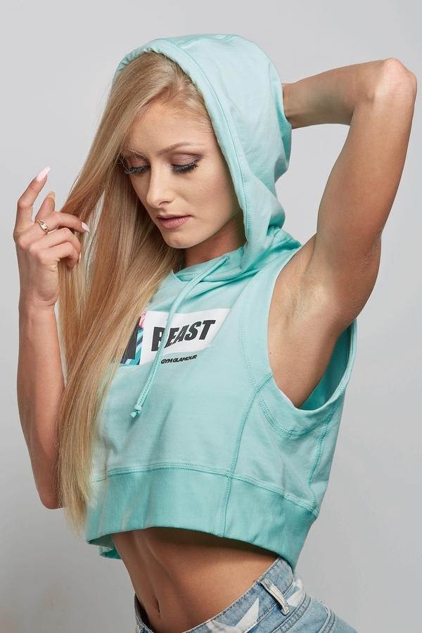 """Mikina Mentolová """"Beauty Beast"""" - 3"""