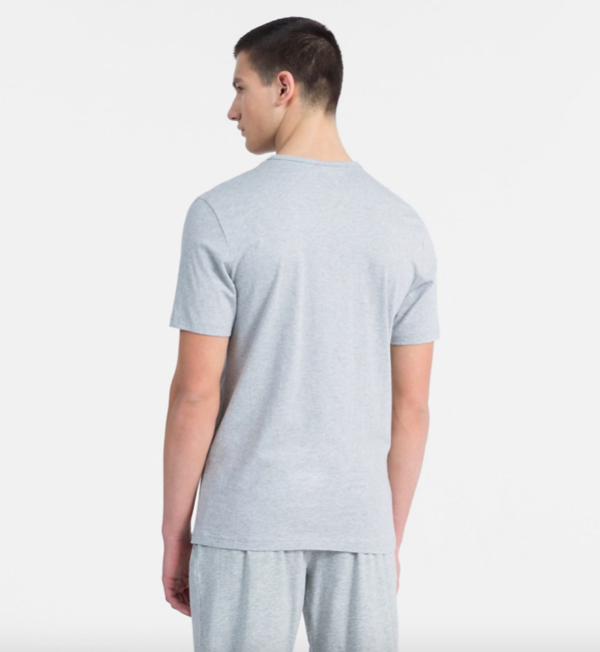 Calvin Klein Tričko Monogram Pánské Šedé - 3