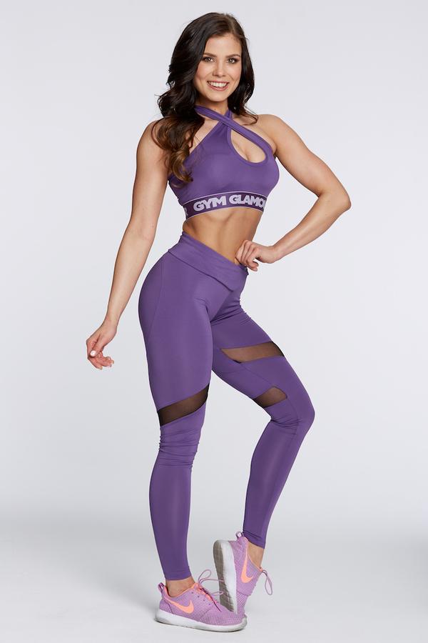 Gym Glamour Legíny Violet Heart, L - 3