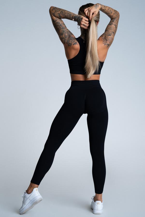Gym Glamour Legíny Push Up Deep Black, M - 3