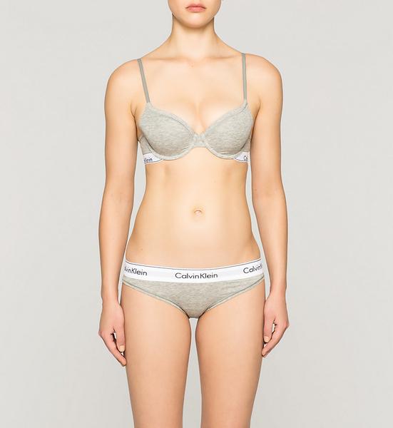 Calvin Klein Podprsenka Modern Cotton T-Shirt Šedá - 3