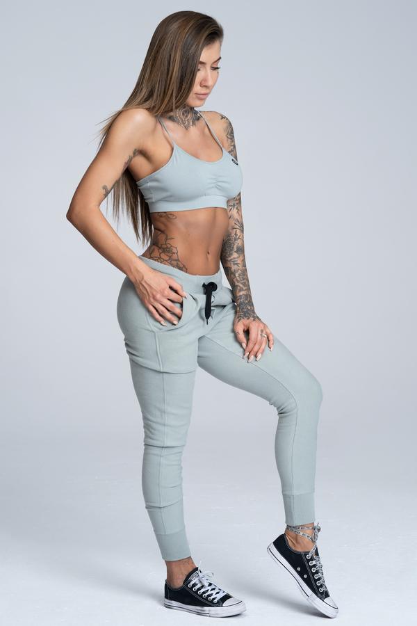 Gym Glamour Tepláky Boyfriend Grey, M - 3