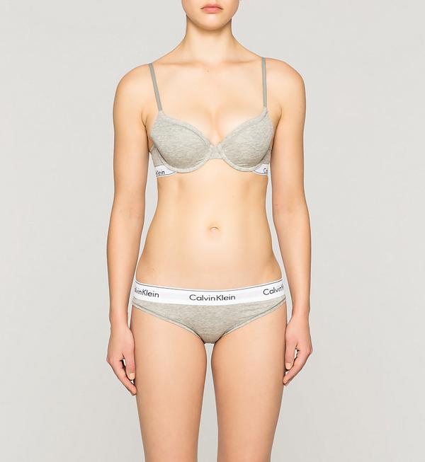 Calvin Klein Podprsenka Modern Cotton T-Shirt Šedá, 32C - 3