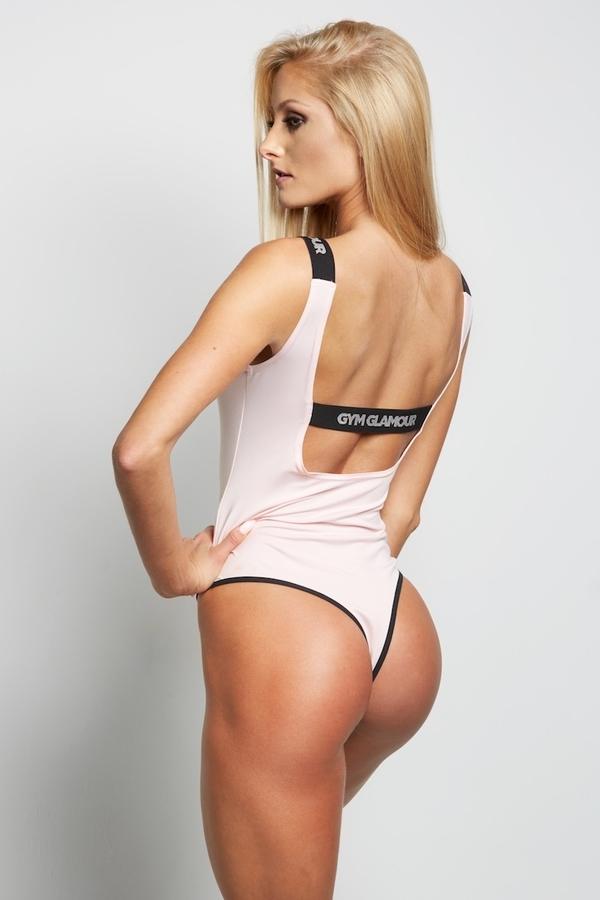 Gym Glamour Bodyčko Baby Pink, S - 3