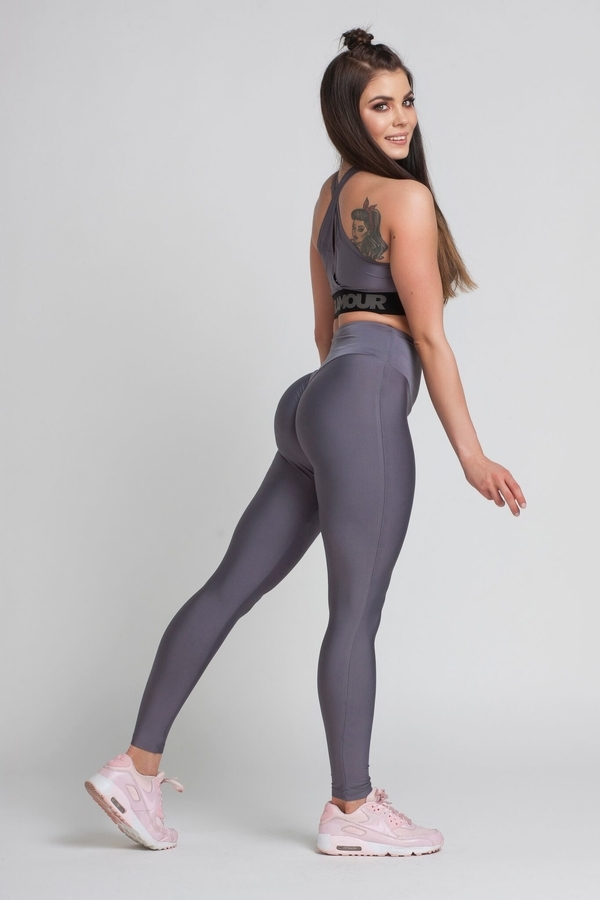 Legíny Gym Glamour High Waist Granite, M - 3