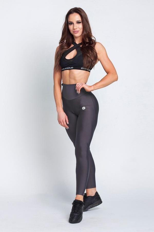 Gym Glamour Legíny High Waist Dark Grey, L - 3