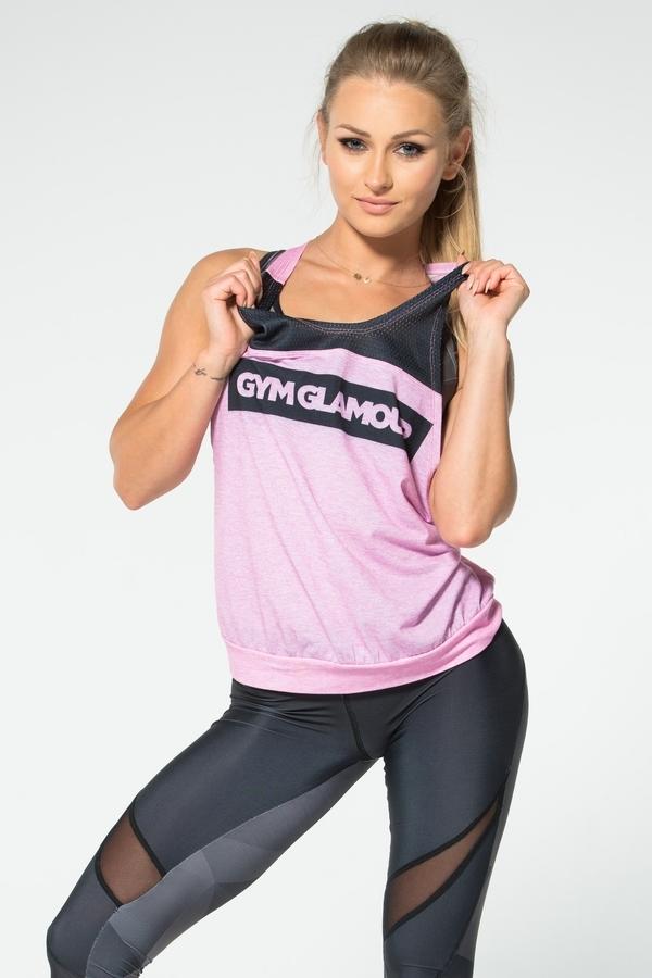 Gym Glamour Top Růžový - 3