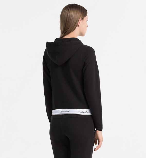 Calvin Klein Mikina Se Zipem Černá, XS - 3