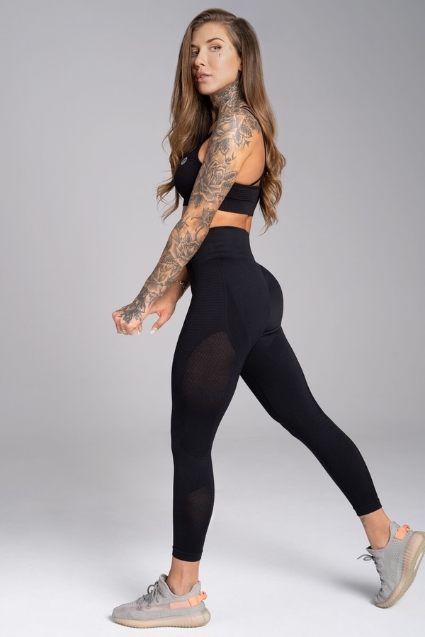 Gym Glamour Legíny Bezešvé Carbon - 3