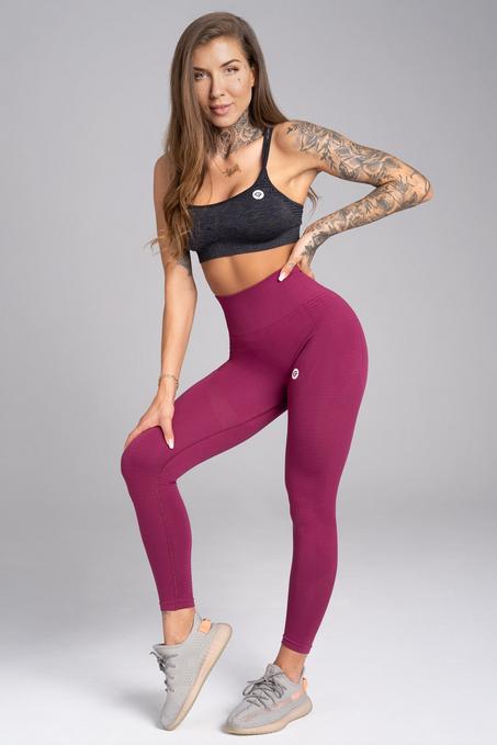 Gym Glamour Legíny Bezešvé Jelly Berry, S - 3