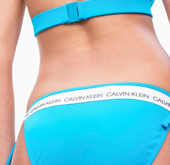 Calvin Klein Plavky CK Logo Maldive Blue Spodní Díl - 3