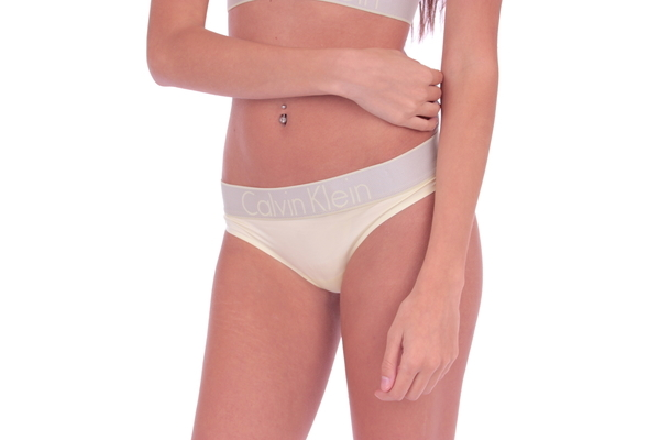 Calvin Klein Tanga Customized Stretch Washed Yellow - 3