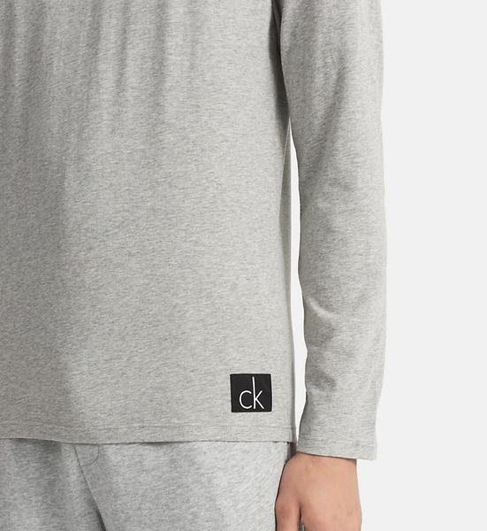 Calvin Klein Tričko S Dlouhým Rukávem Šedé - 3