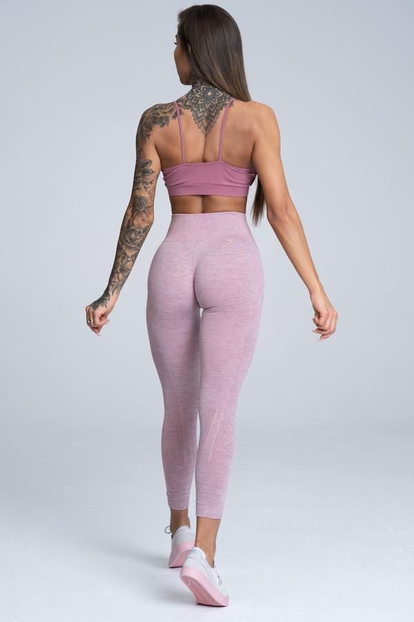 Gym Glamour Legíny Bezešvé Pink Melange - 3