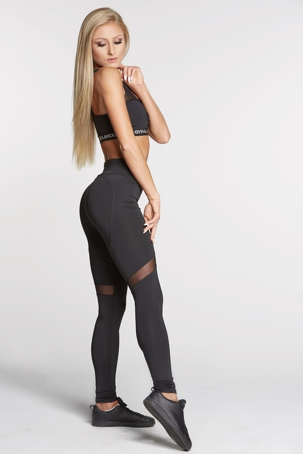 Gym Glamour Legíny Full Black Heart, L - 3