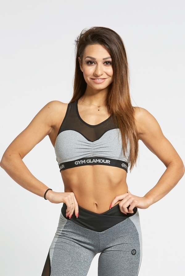 Gym Glamour Podprsenka Grey Mesh, XS - 3