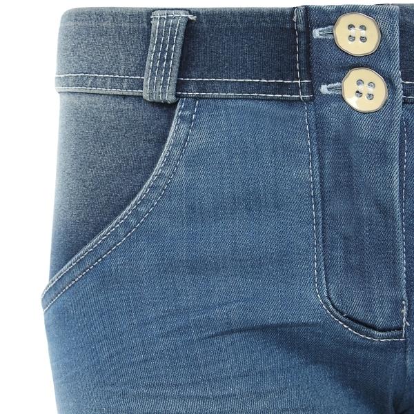 Freddy Jeans Světle Modré Vyšisované Normální Pas SS18, S - 3