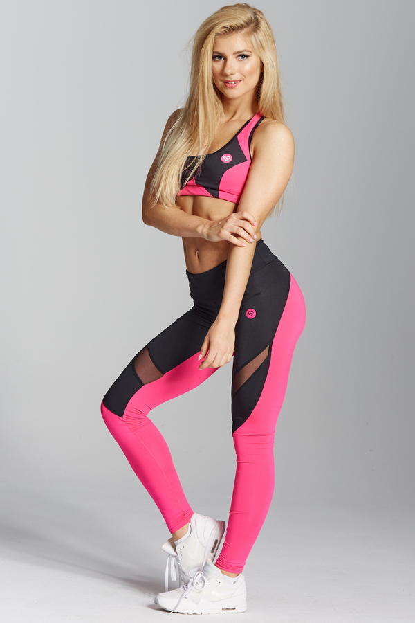 Gym Glamour Legíny Pink Fluo, XS - 3