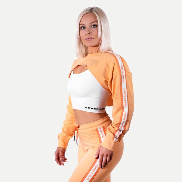 Better Bodies Crop Mikina Chrystie Light Orange, S - 3